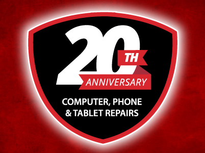computer phone and tablet repairs 20th anniversary