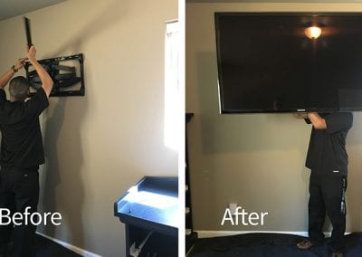 Fully Mounted TV