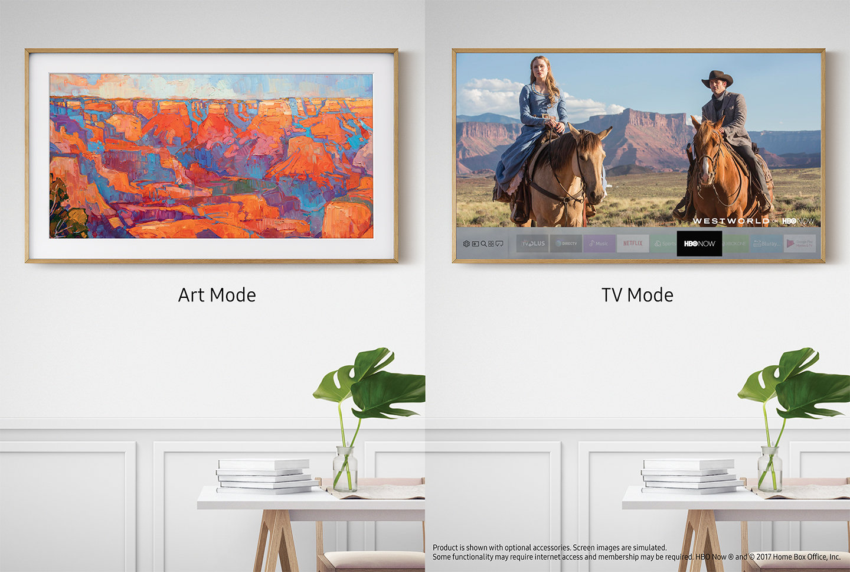 The Frame TV Samsung San Luis Obispo TV that looks like art