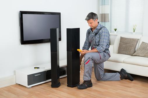 We fix projectors, TVs, speakers and more